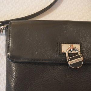 Calvin Klein Black Leather Crossbody Purse